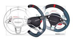 Skoda Vision RS hybrid: bozzetti del volante