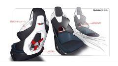 Skoda Vision RS hybrid: bozzetto dei sedili