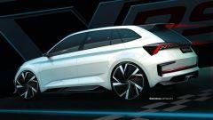 Skoda Vision RS hybrid: vista 3/4 posteriore