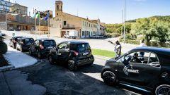 Smart EQ Green Power Run: le auto allineate prima della partenza