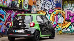 Smart ForFour Electric Drive 2017: la vista posteriore
