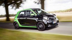 Smart ForFour Electric Drive 2017: si riconosce per la cellula Tridion verde