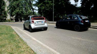 Smart Fortwo Cabrio e Fiat Nuova 500e Cabrio a confronto