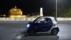 smart fortwo electric drive, Roma il suo terreno di caccia