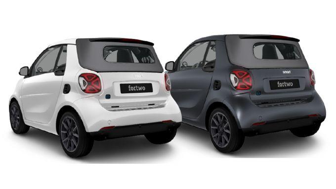 smart serie speciali 2021: fortwo EQ cabrio suitegrey