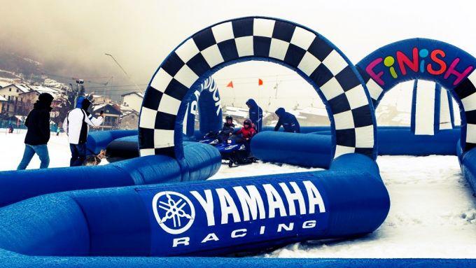Snow Kids Yamaha, l'area attrezzata per le motoslitte