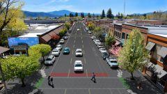 Solar Roadways: le piastrelle ambientate in un contesto urbano - credit Solar Roadways®