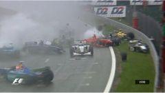 Spa-Francorchamps - il terribile incidente in partenza dell'edizione 1998