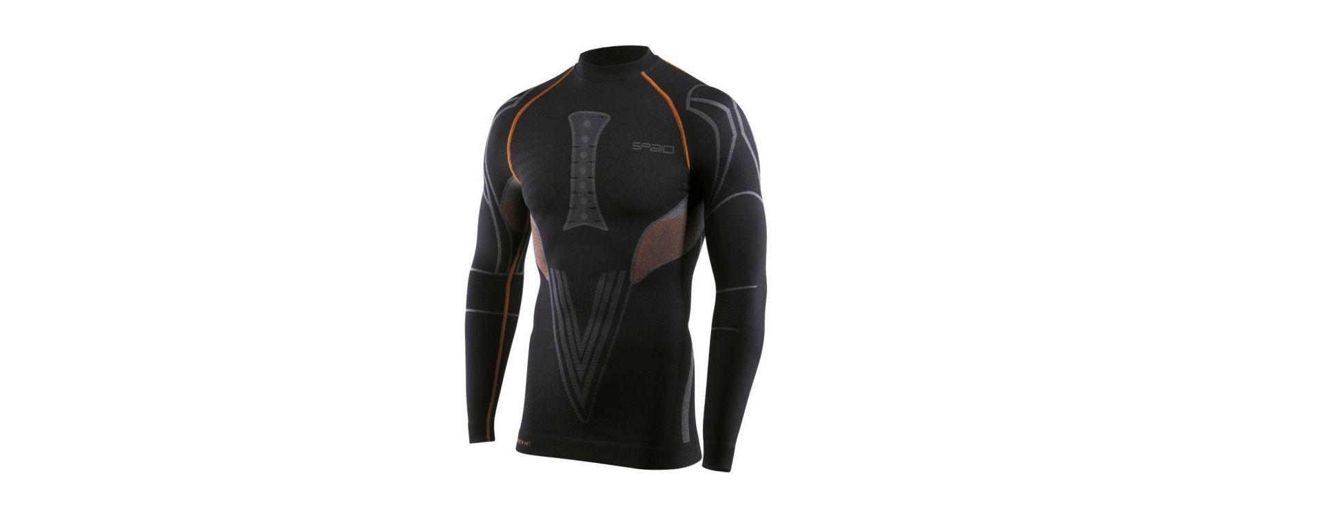Spaio maglia Extreme, per uomo, maniche lunghe, nero/grigio