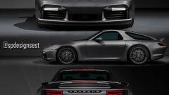 Spdesignsest ha realizzato un rendering mixando Porsche 911 Turbo S e 928