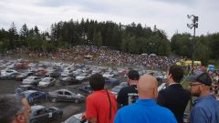 Spettatori al Demolition Derbi da record di St-Lazare de Bellechasse, in Canada