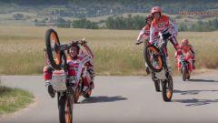 Spot Repsol, nel making of acrobazie con le moto da trial