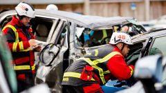 Squadra in azione al Volvo Cars Safety Centre
