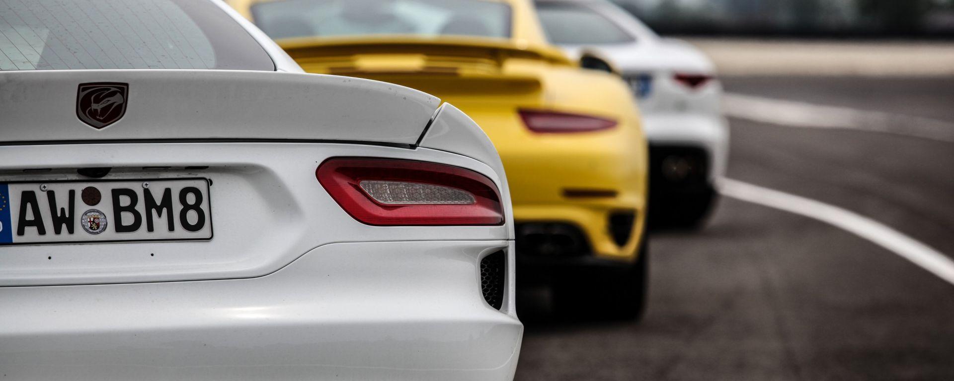 Video: Viper vs 911 Turbo vs F-Type R