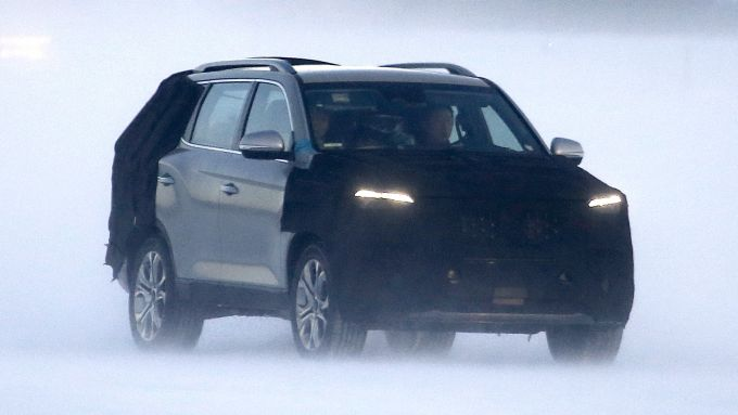 Ssangyong Rexton, il nuovo frontale