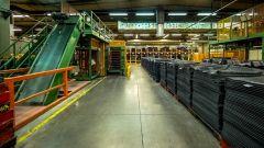 Stabilimento Nokian Tyres di Vsevolozhsk: il magazzino delle pelli di gomma