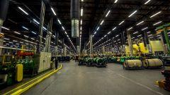 Stabilimento Nokian Tyres di Vsevolozhsk: il magazzino delle tele