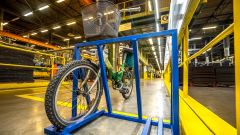Stabilimento Nokian Tyres di Vsevolozhsk: un parcheggio per le biciclette