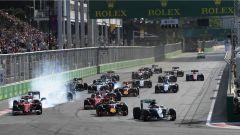 Starting grid - Baku Circuit