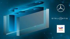 Stellantis-Mercedes-Total, accordo per produzione batterie EV