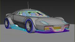 Stratus 2025 by ColorSponge, 3/4 anteriore nel disegno CAD