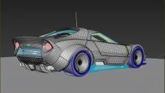 Stratus 2025 by ColorSponge, 3/4 posteriore nel disegno CAD