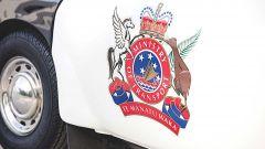 Subaru 360 police car all'asta: logo del Ministero dei trasporti della Nuova Zelanda