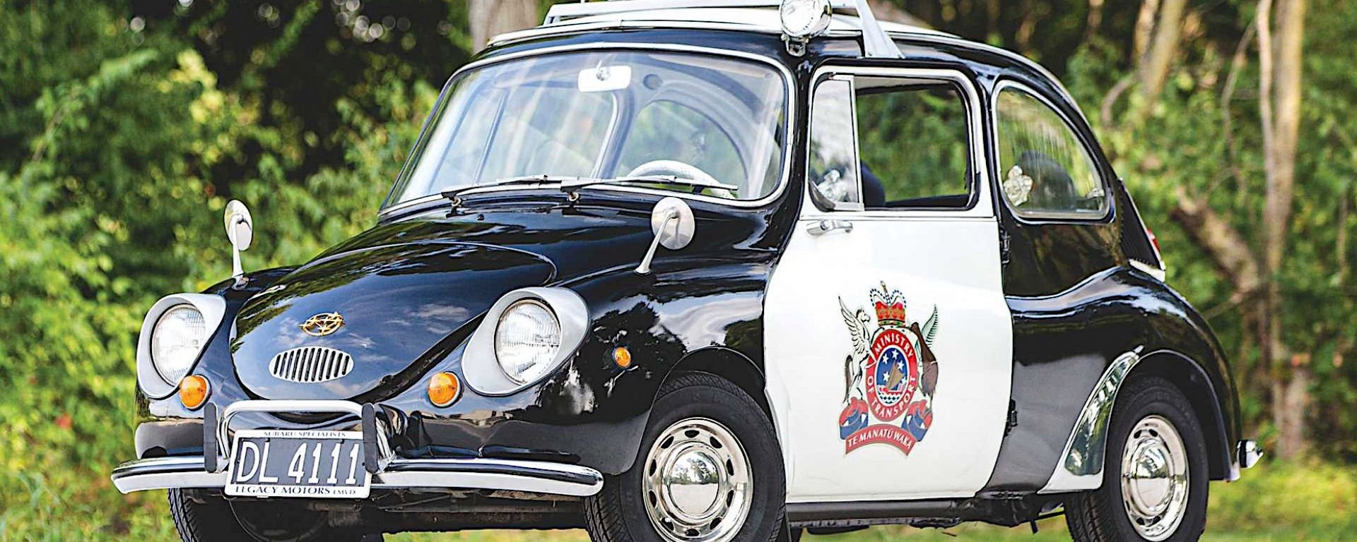 Subaru 360 police car all'asta