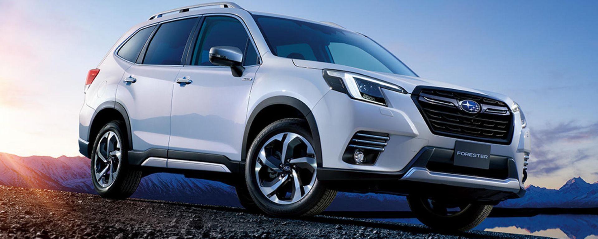 Subaru Forester 2022: visuale di 3/4 anteriore