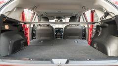 Subaru Impreza e-Boxer, interni: il bagagliaio con i sedili posteriori reclinati