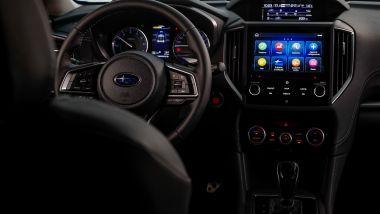 Subaru Impreza e-Boxer: l'abitacolo interno