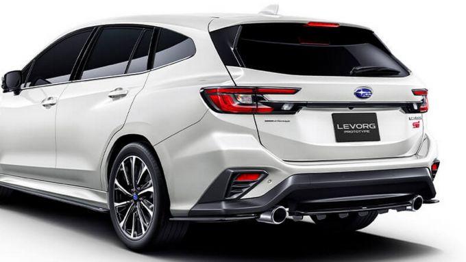 Subaru Levorg STi Sport prototype 2020, dettaglio del posteriore