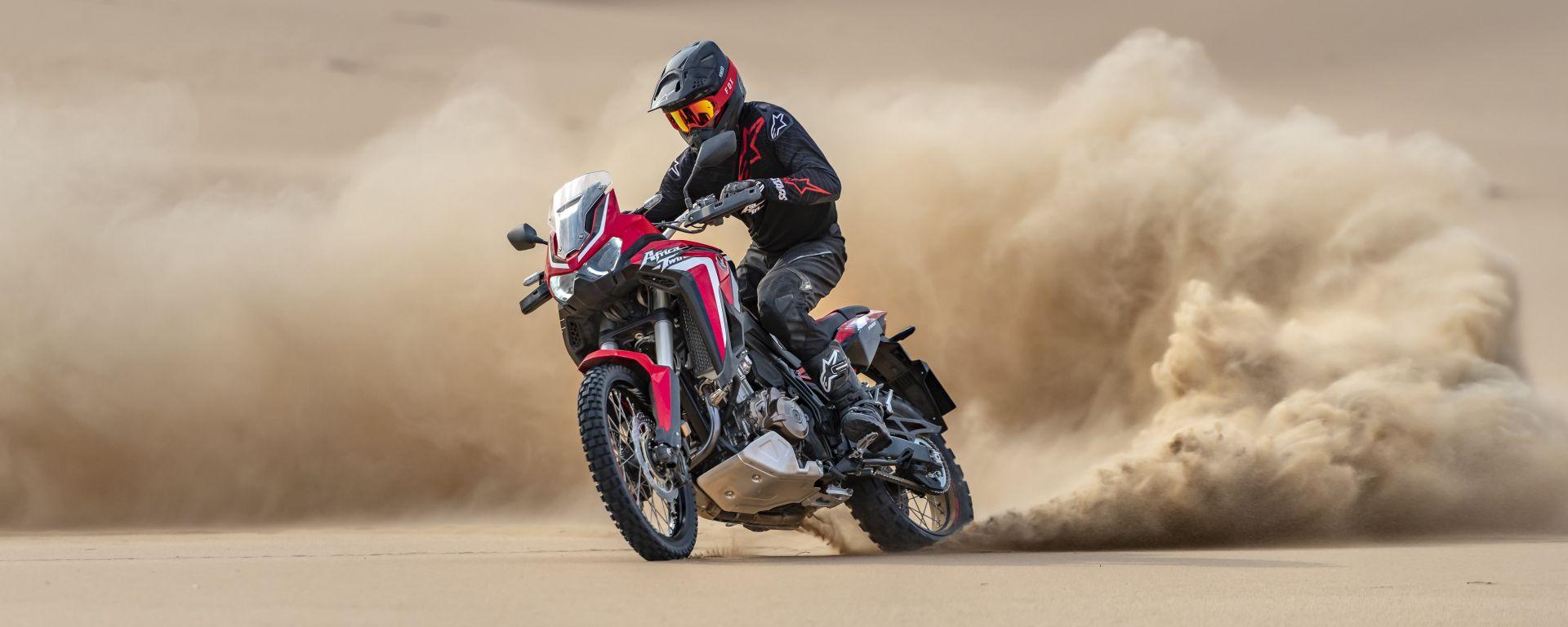 Sulle dune con la Honda CRF1100L Africa Twin 2020