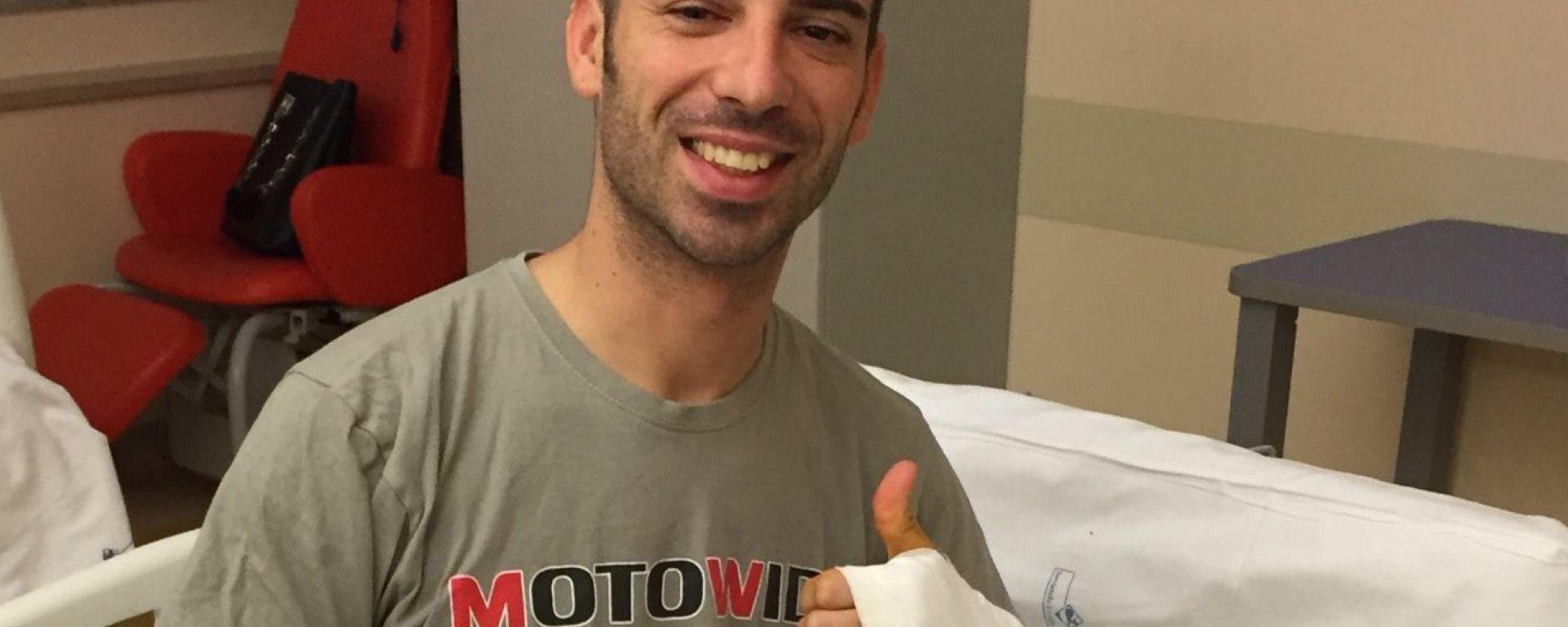 SUPERBIKE 2017: MARCO MELANDRI, OPERATO AL MENISCO LESIONATO, INIZIA LA RIABILITAZIONE