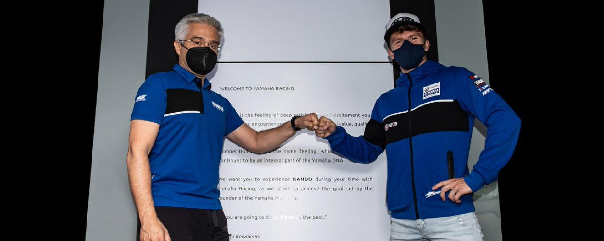 Superbike 2021, Garrett Gerloff (Yamaha GRT) con Andrea Dosoli