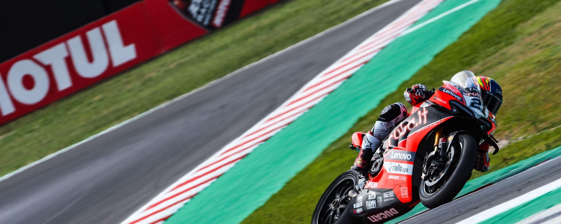 Superbike 2021, Michael Ruben Rinaldi (Ducati Aruba.it) impegnato nel round di Misano