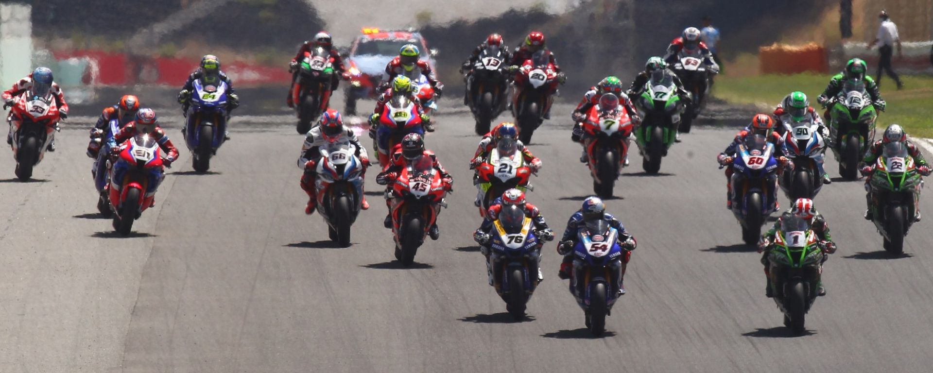 Superbike Portimao 2020, la partenza