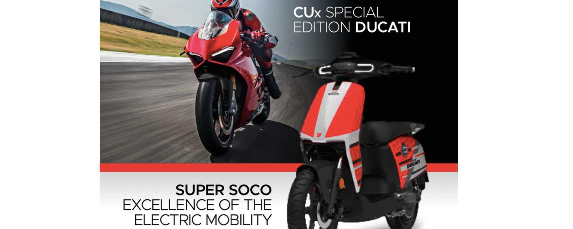 SuperSoco CUx: lo scooter elettrico marchiato Ducati