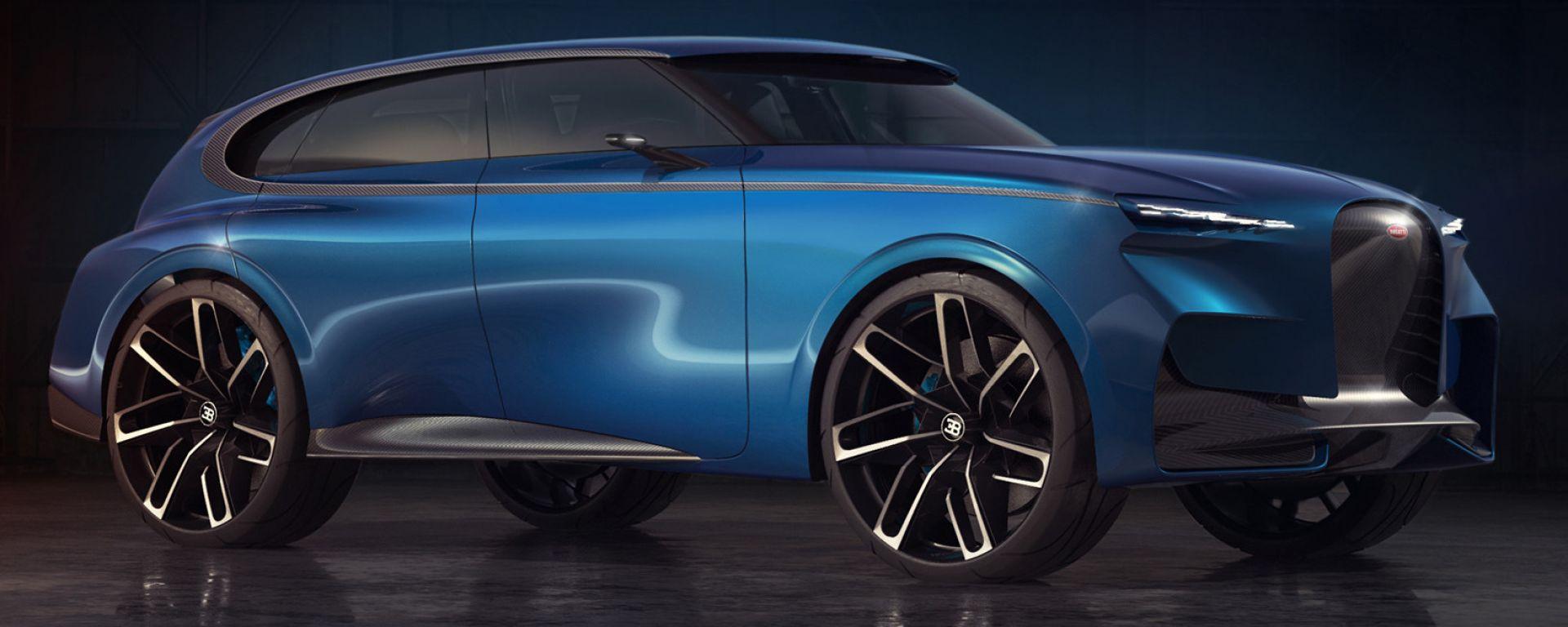 Suv Bugatti, il rendering