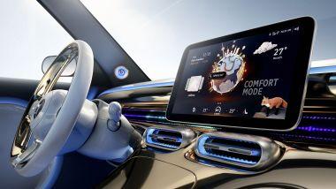 SUV elettrico Smart, la plancia dell'abitacolo