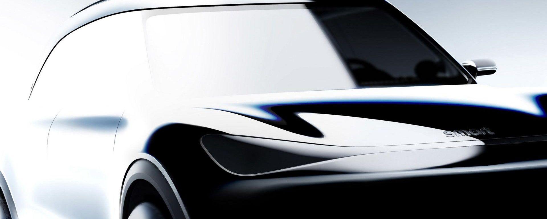 SUV elettrico Smart, primi disegni e teaser ufficiali