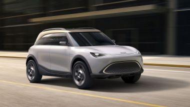 SUV elettrico Smart, visuale di 3/4 anteriore