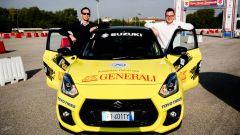 Suzuki Aci Rally Italia Talent 2019, l'equipaggio Sardina (MotorBox) e Corona (Autoappassionati) prima del via