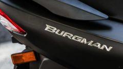Suzuki Burgman 2017: dettaglio del lettering