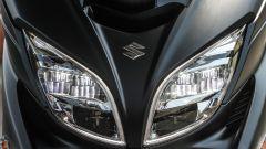 Suzuki Burgman 2017: il gruppo ottico anteriore