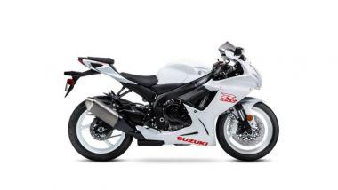 Suzuki GSX-R 600 2020: bianco molto sobrio