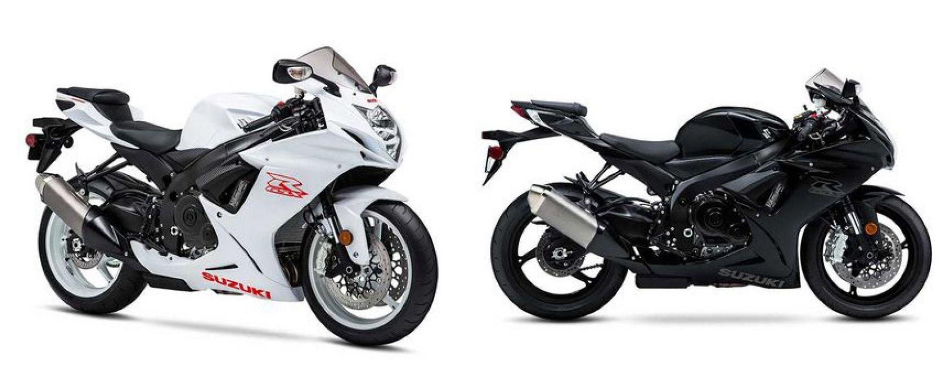 Suzuki GSX-R 600 2020: colori bianco e nero