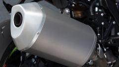 Suzuki GSX-R1000 2017, scarico laterale