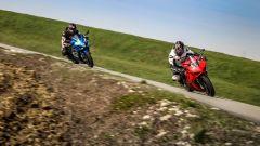Suzuki GSX-R1000R e Ducati Panigale V4s: il test comparativo