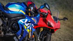 Suzuki GSX-R1000R e Ducati Panigale V4s